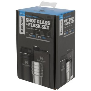 Shotglass Set + Flask Set Matte Black